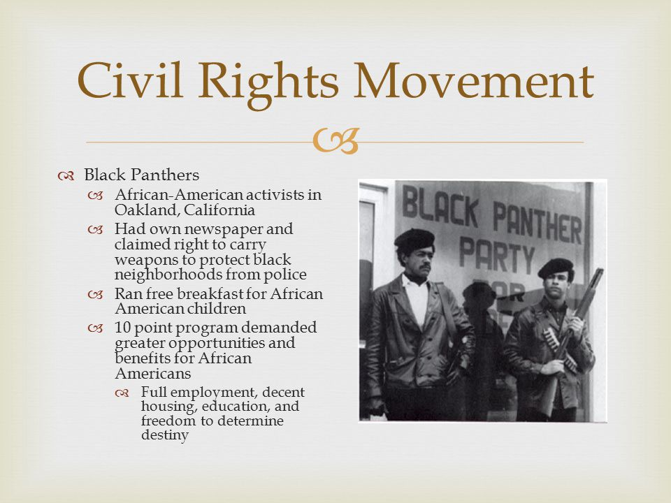 Civil Rights Movement Black Panthers