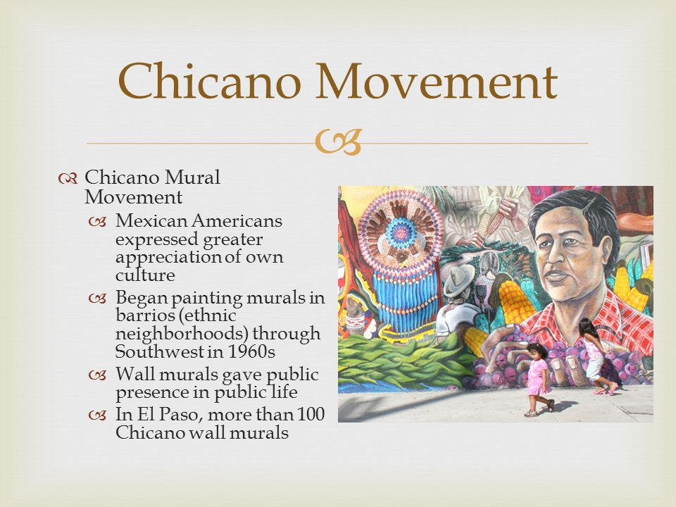 Civil rights movement ppt video online download for Chicano mural movement