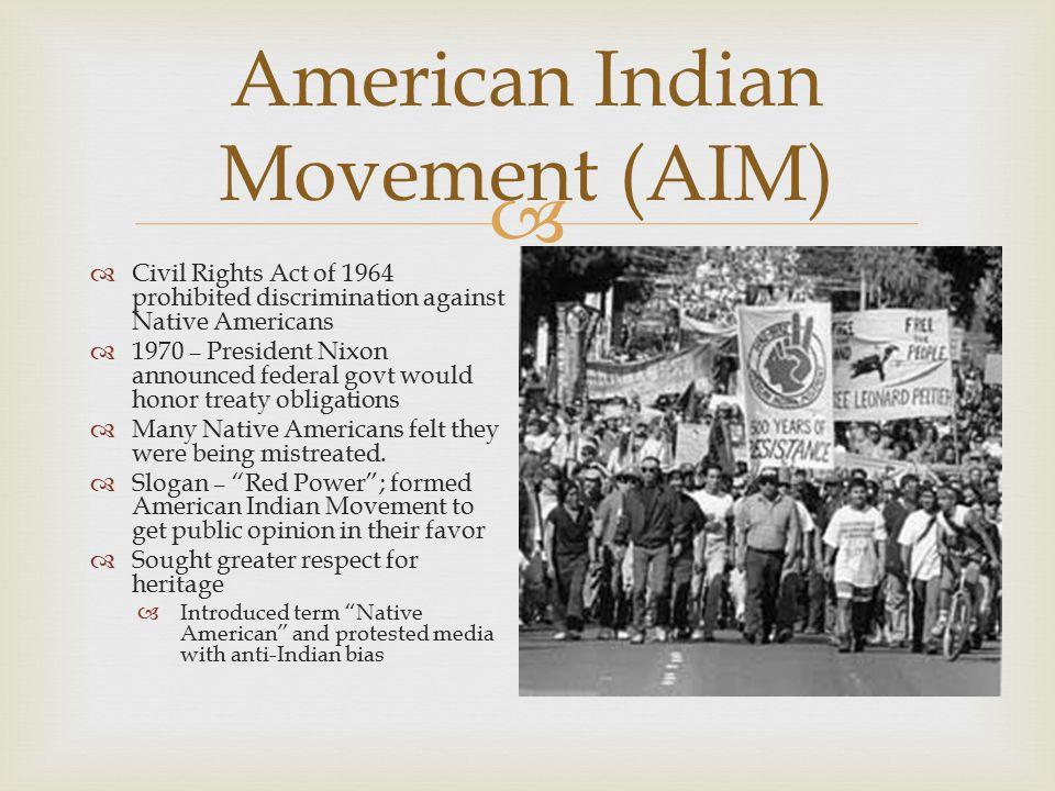 discrimination native americans