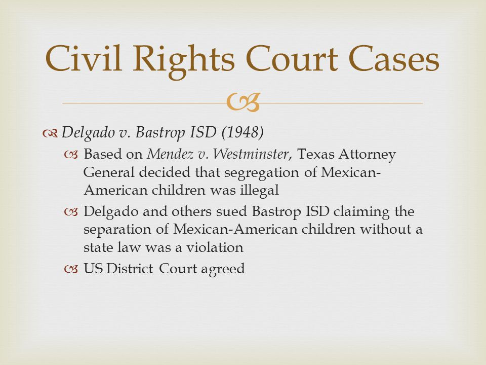 Civil Rights Court Cases