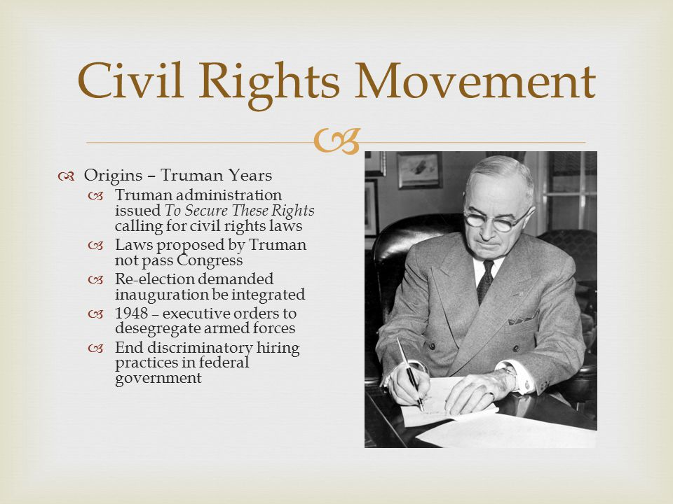 Civil Rights Movement....