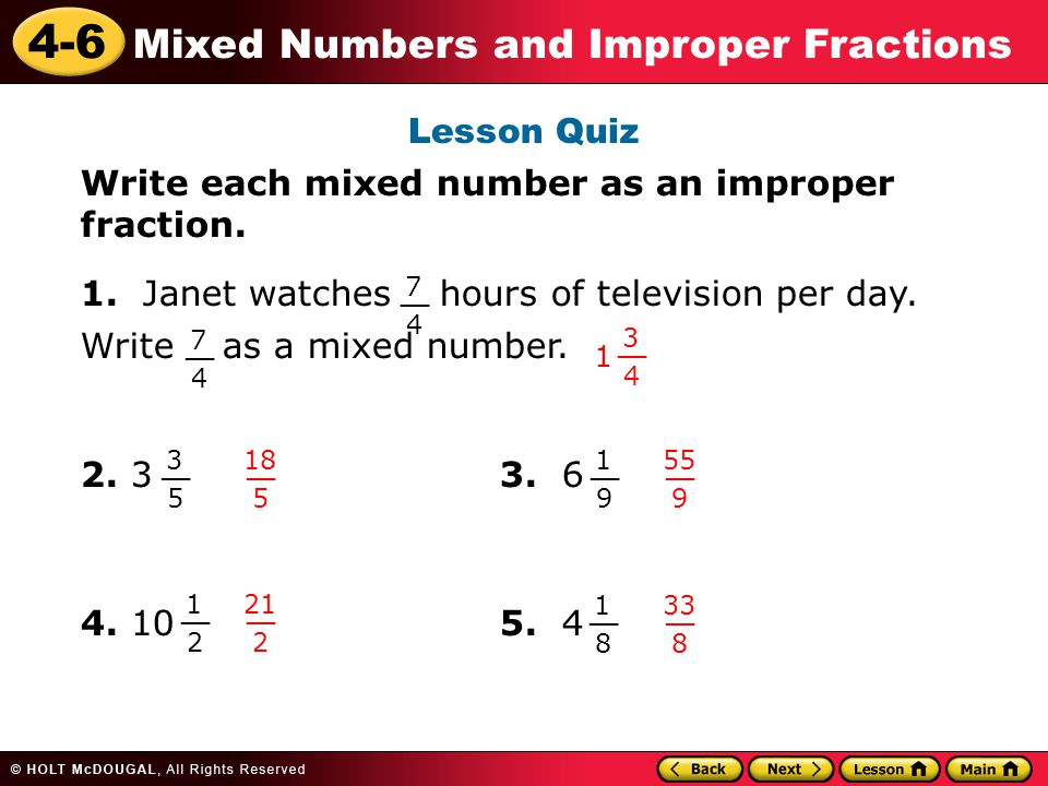 how to put 19 in improper fraction