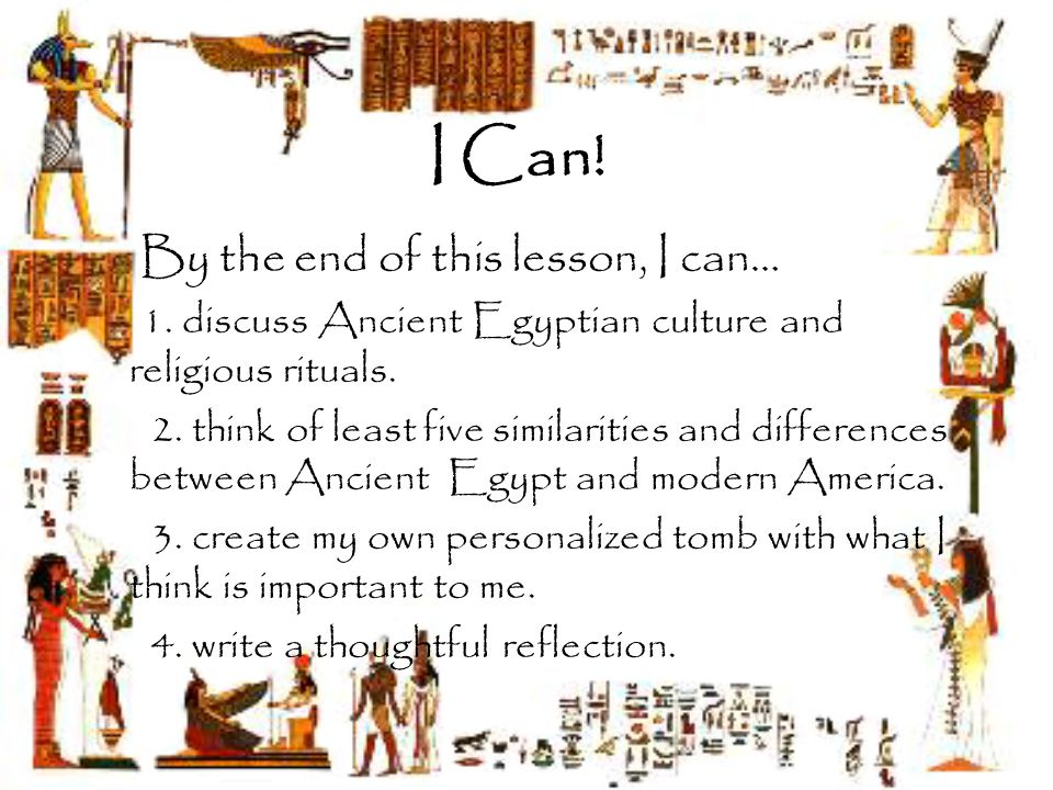 egyptian cultural differences There are many significant similarities and differences between the art of ancient egypt and the art of the various civilizations in ancient mesopotamia the ancient egyptians were known for .