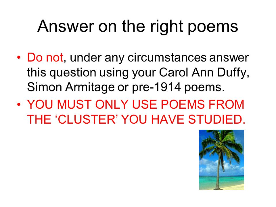 compare the methods armitage and duffy Carol ann duffy war  analysis of writer's methods with subject terminology used judiciously and  compare the ways poets present ideas about power in.