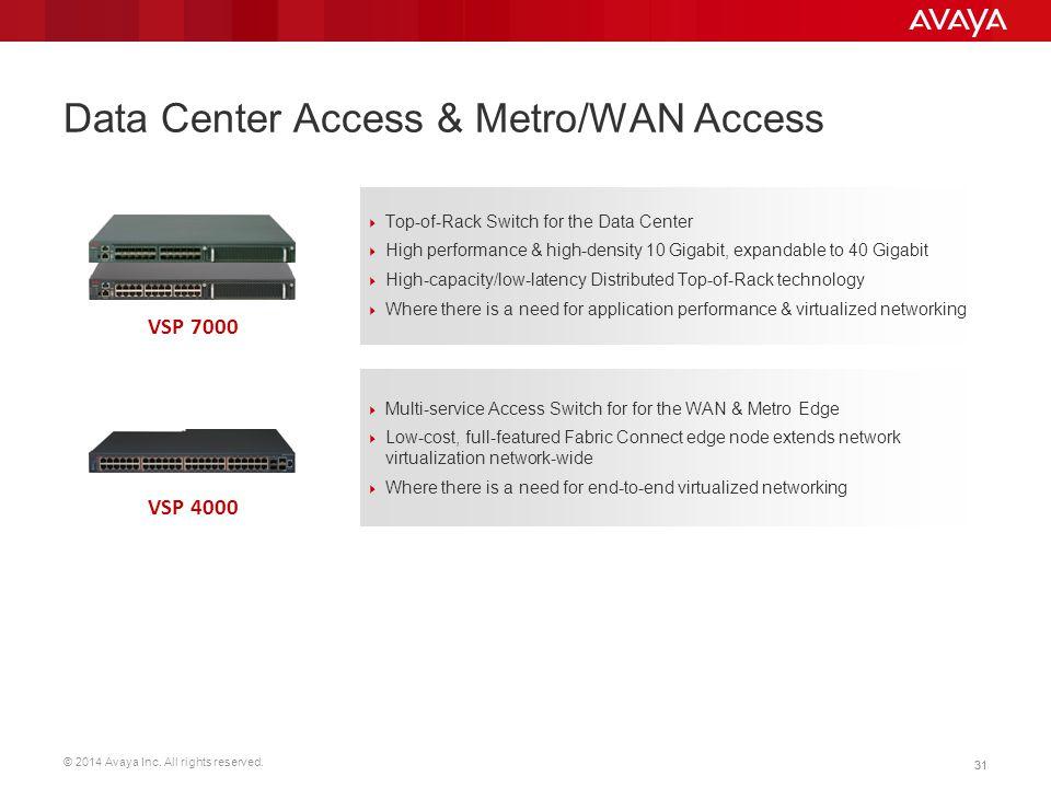 Data Center Access & Metro/WAN Access