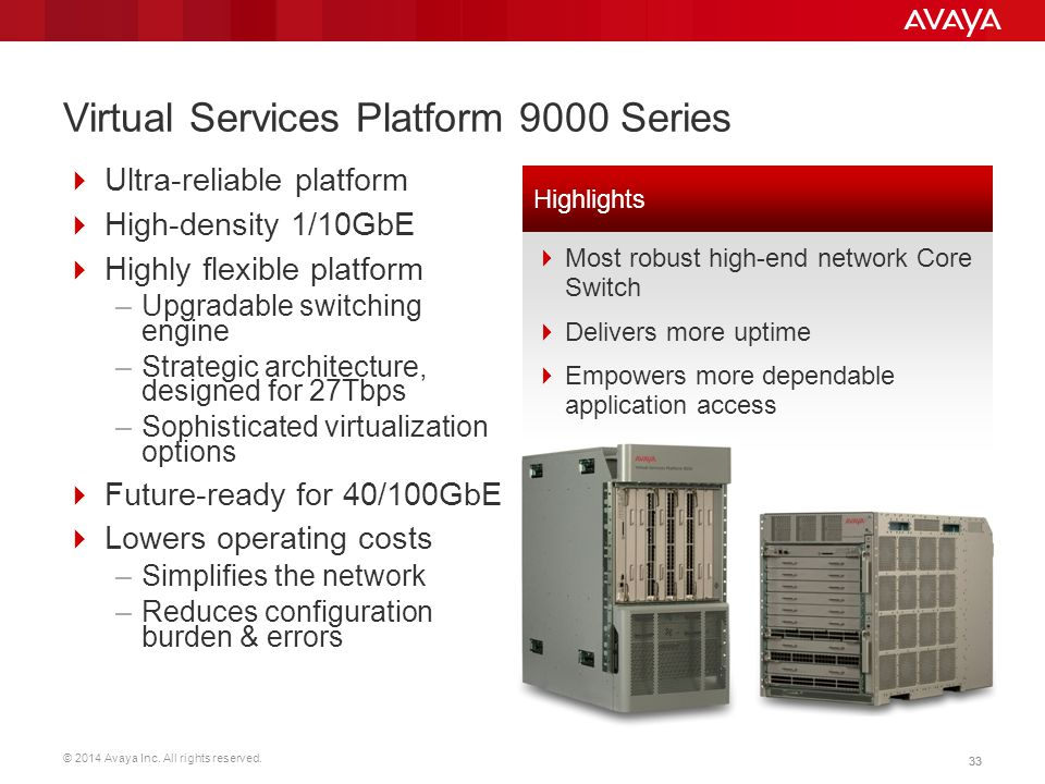 Virtual Services Platform 9000 Series