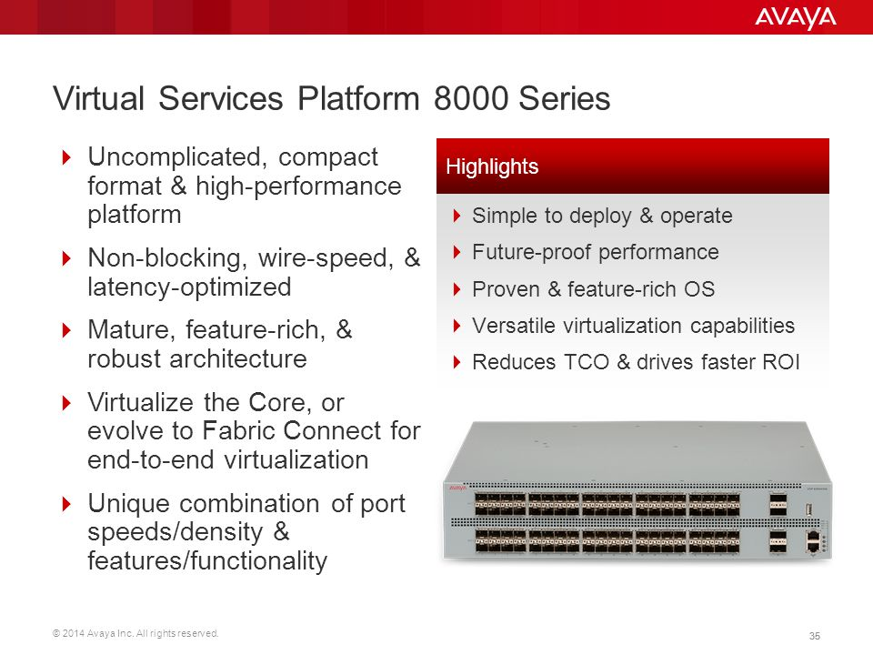 Virtual Services Platform 8000 Series
