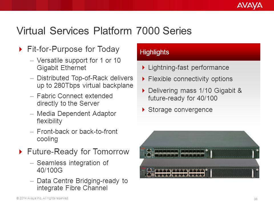 Virtual Services Platform 7000 Series
