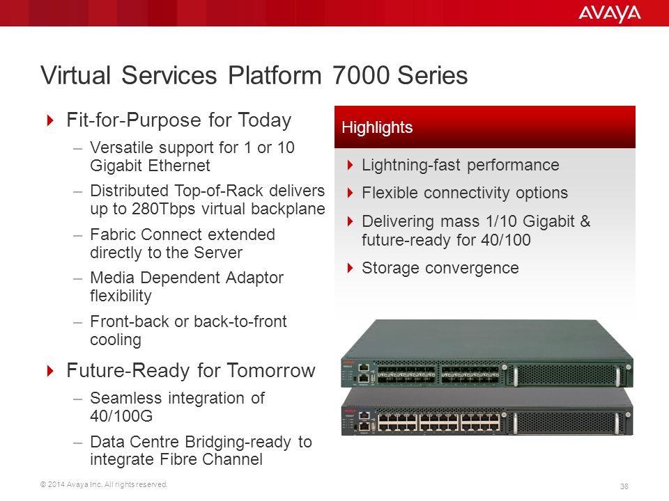 Virtual Services Platform 7000 Series