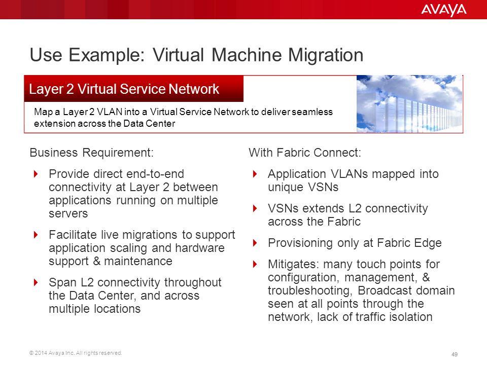 Use Example: Virtual Machine Migration