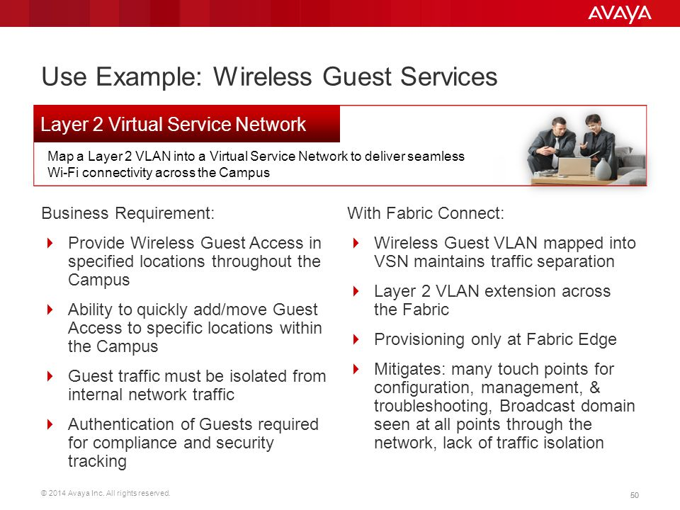 Use Example: Wireless Guest Services