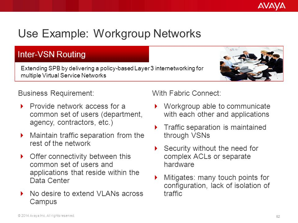 Use Example: Workgroup Networks