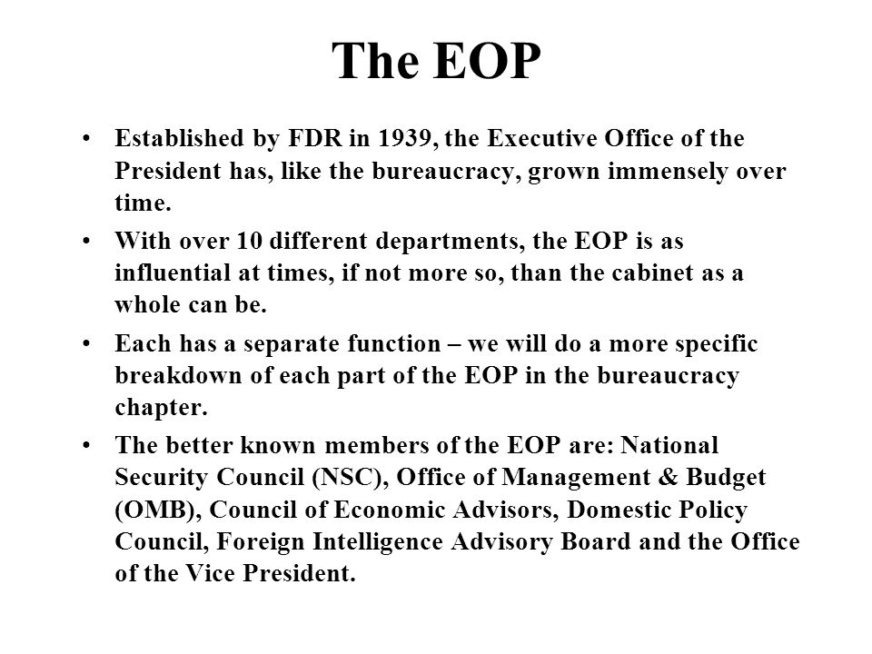 The Executive Branch. - ppt video online download