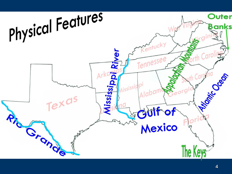 Southern United States Ppt Video Online Download - Us map appalachian mountains