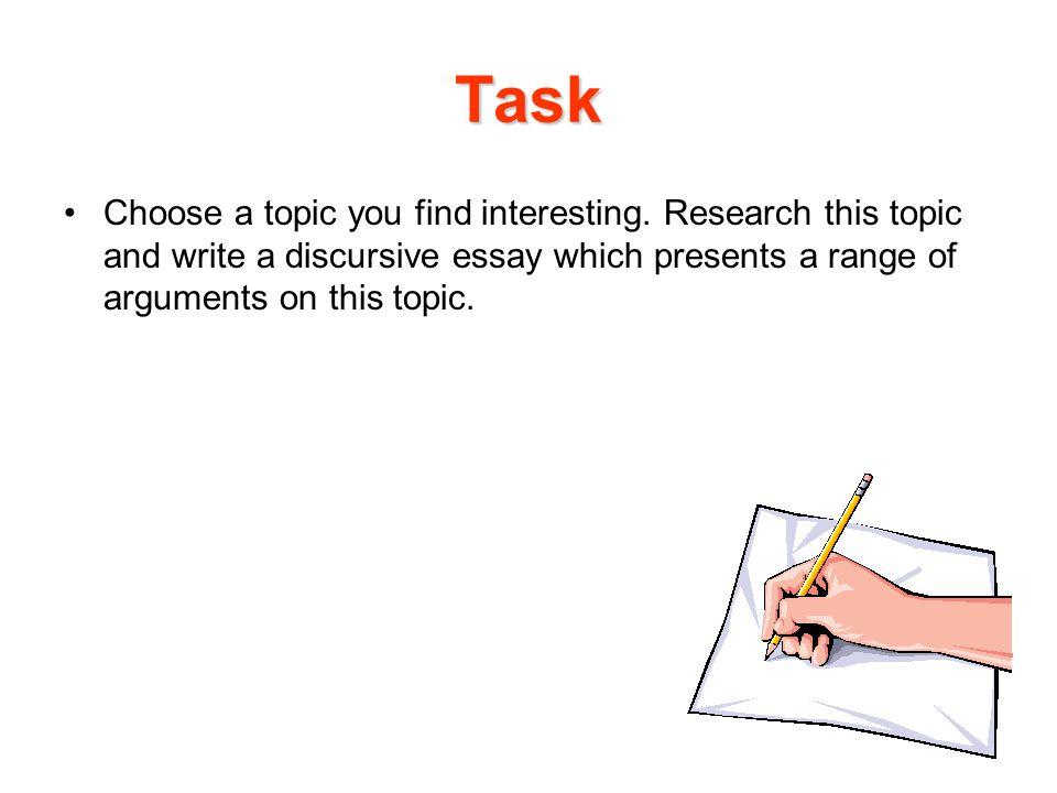 define discursive essay