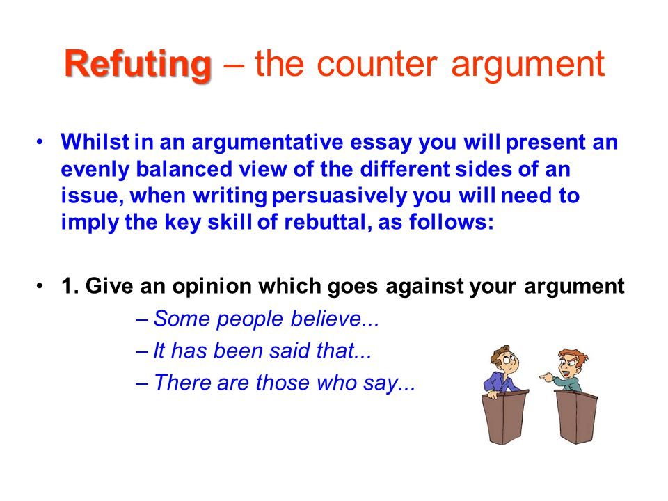 discursive writing ppt video online  24 refuting the counter argument