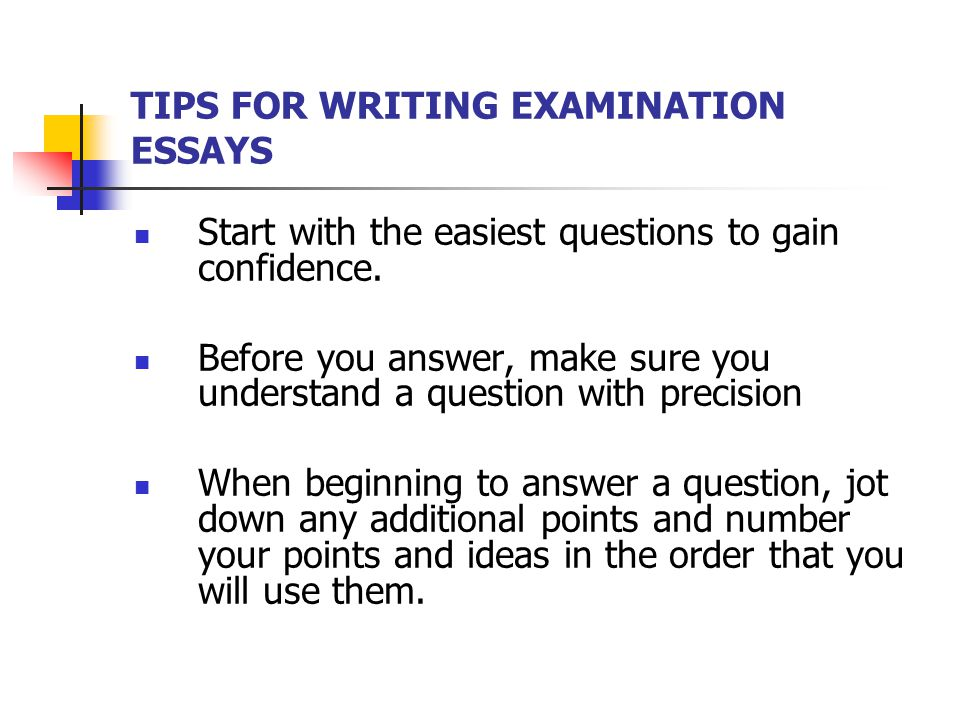 essay on examination This essay will discuss my experience of having undertaken the objective structured clinical examination (osce) where i was asked to write and.