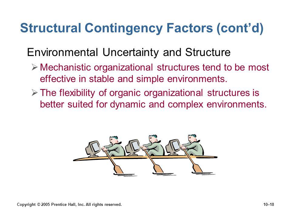 Structural Contingency Factors (cont'd)