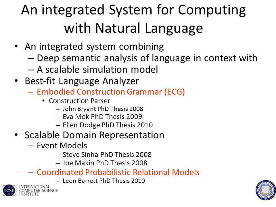 language integrated system Aaai-17 integrated systems track submission site  multi-modal perception,  interaction and natural language understanding the integration of planning,  acting.
