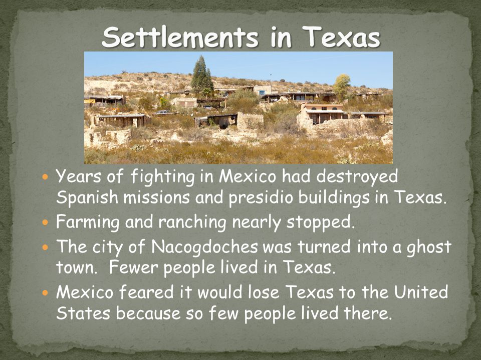 spanish settlements in texas Explore with the texas history timeline this was the founding of the city of san antonio, the most significant texas settlement of the spanish era.