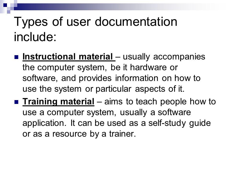 create user documentation ppt