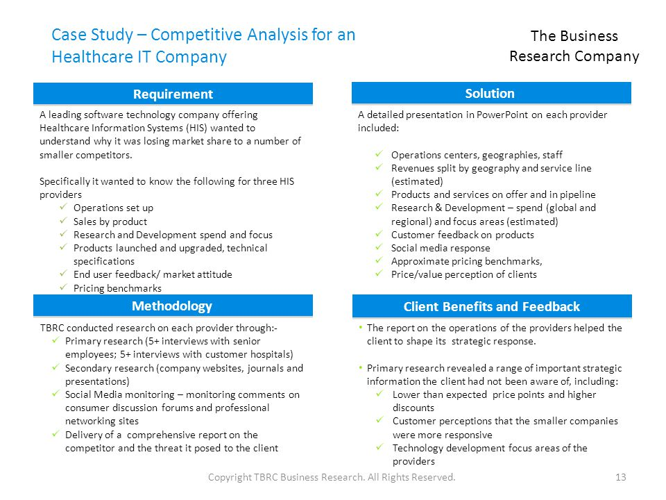 company case study analysis As just mentioned, the purpose of the case study is to let you apply the concepts you've learned when you analyze the issues facing a specific company.