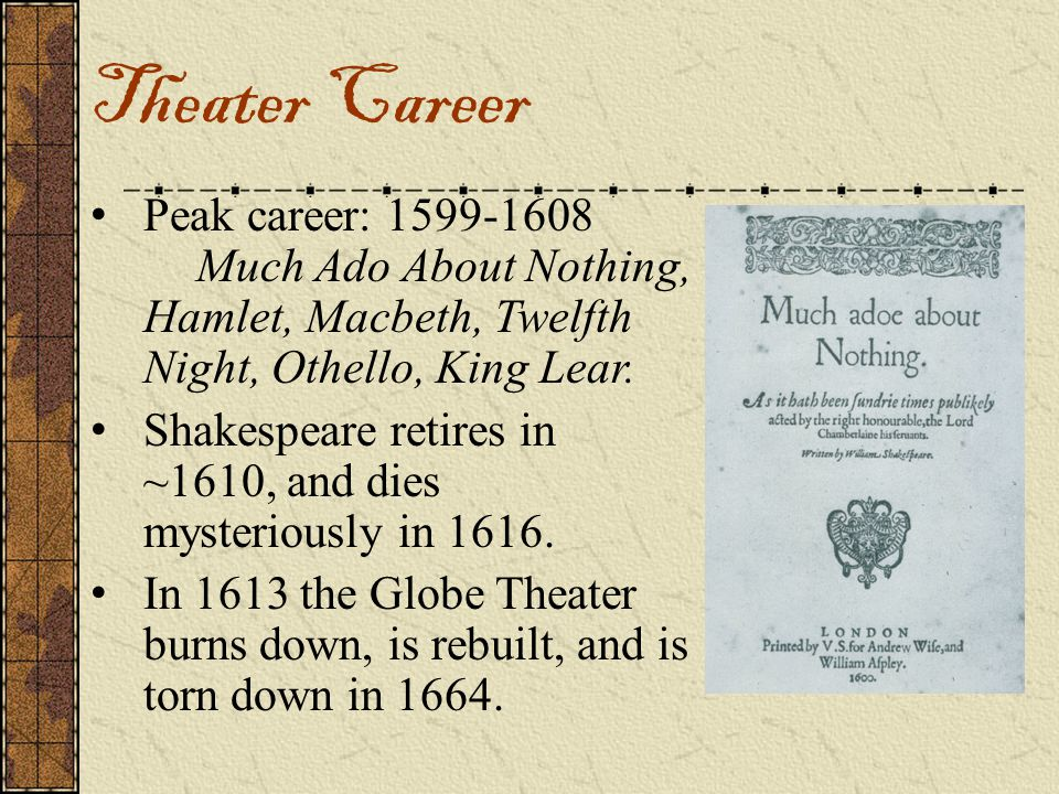 comparing william shakespeares king lear much ado about nothing and macbeth 11 popular songs that reference shakespeare by bill  a radio in the studio and caught a broadcast of king lear  comes from much ado about nothing,.