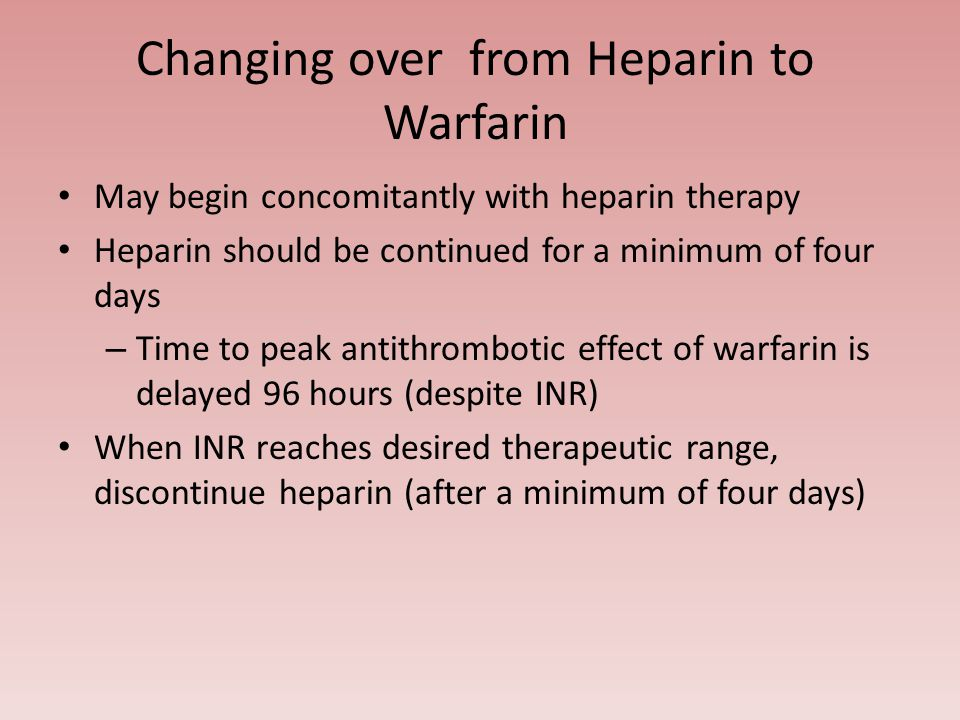 limitations of warfarin and heparin therapy Antiplatelet and anticoagulant therapy for stroke prevention in patients with   any therapy that removes the limitations of warfarin would be a welcome.