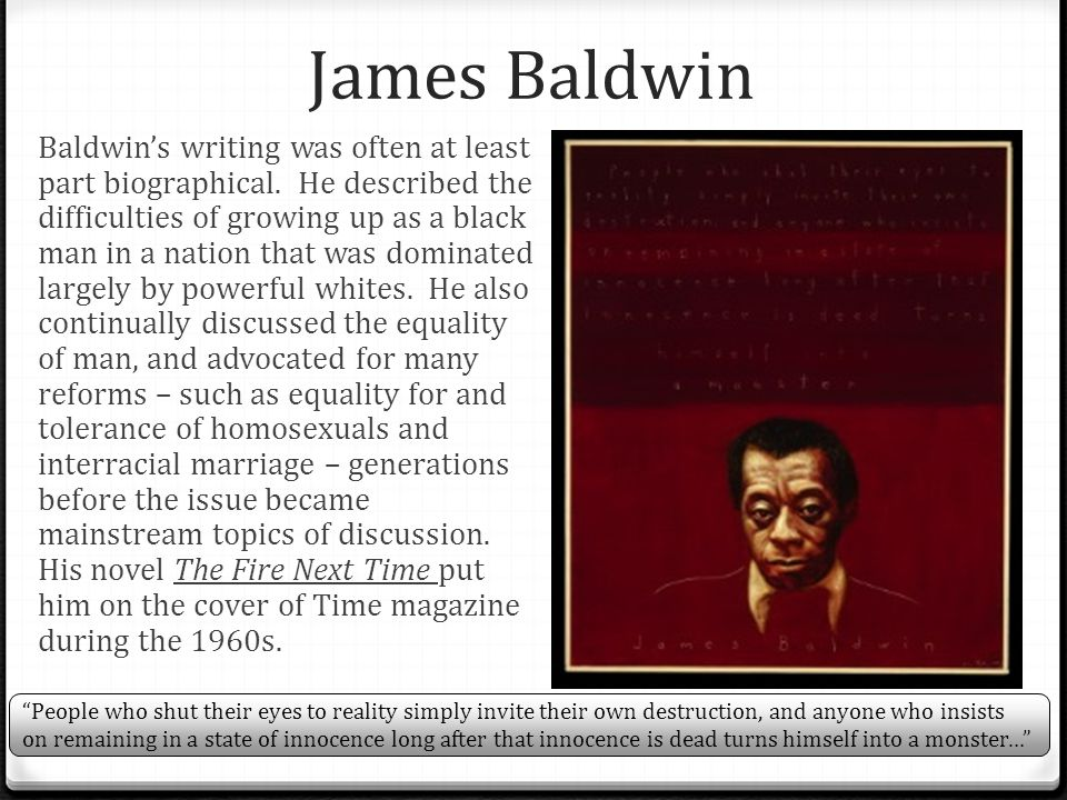 "james baldwin everybody protest novel essay The cambridge companion to james baldwin - edited by michele elam april  2015  ""everybody's protest novel,"" zero spring 1949 ""preservation of  innocence."