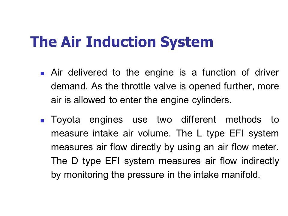 The Air Induction System