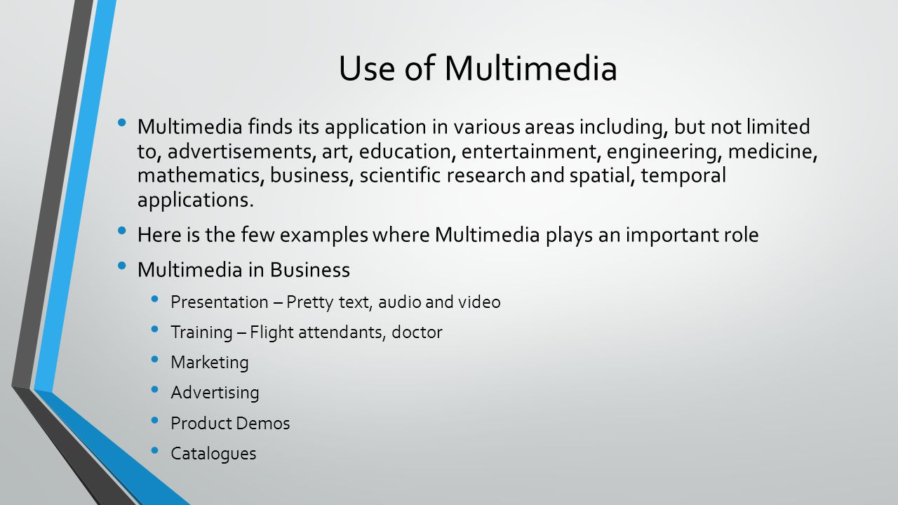 """importance of multimedia in computing Perhaps this study will reach scientific results over research ethics in the field of using multimedia software, it helps in revealing the importance of computer in students' academic achievement to the subject of """"computer and its uses in education"""" and also it stimulates the activation of multimedia use in academic teaching."""