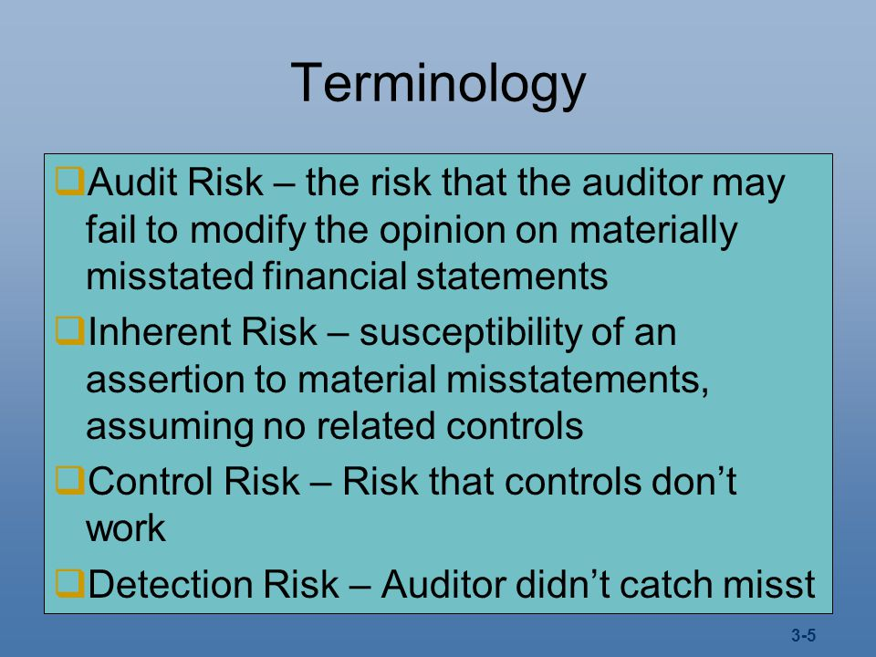 detection risk and control relationship