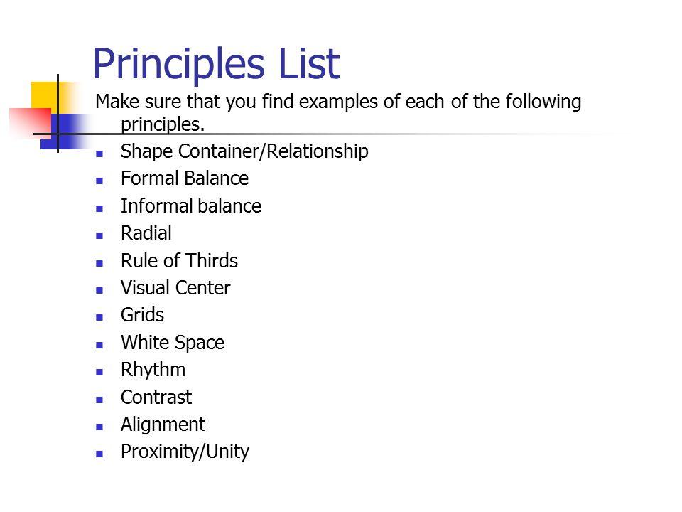Principles Of Design List : Principles of graphic design ppt download