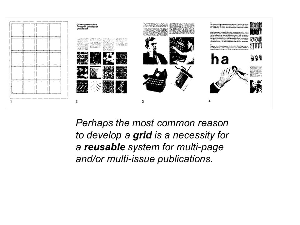 Perhaps the most common reason to develop a grid is a necessity for a reusable system for multi-page and/or multi-issue publications.
