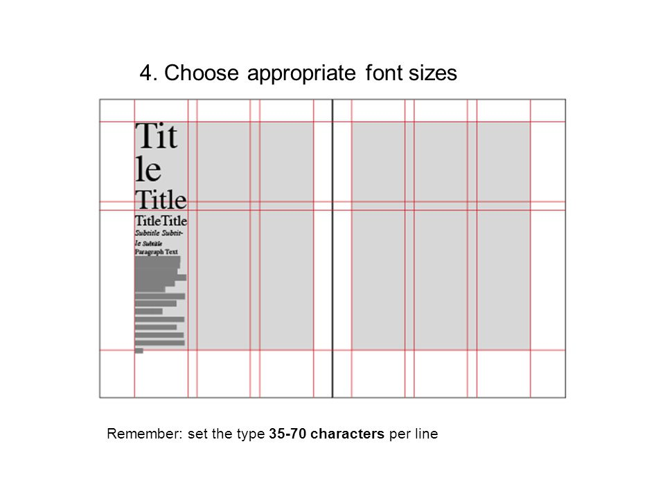 4. Choose appropriate font sizes