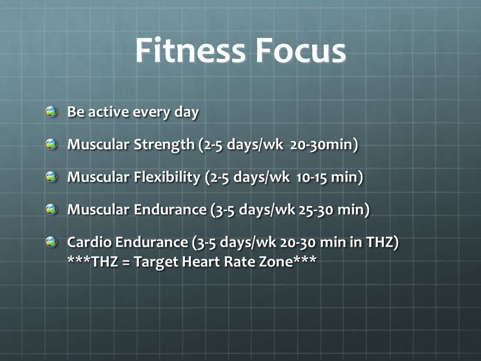 Fitness Focus Be active every day