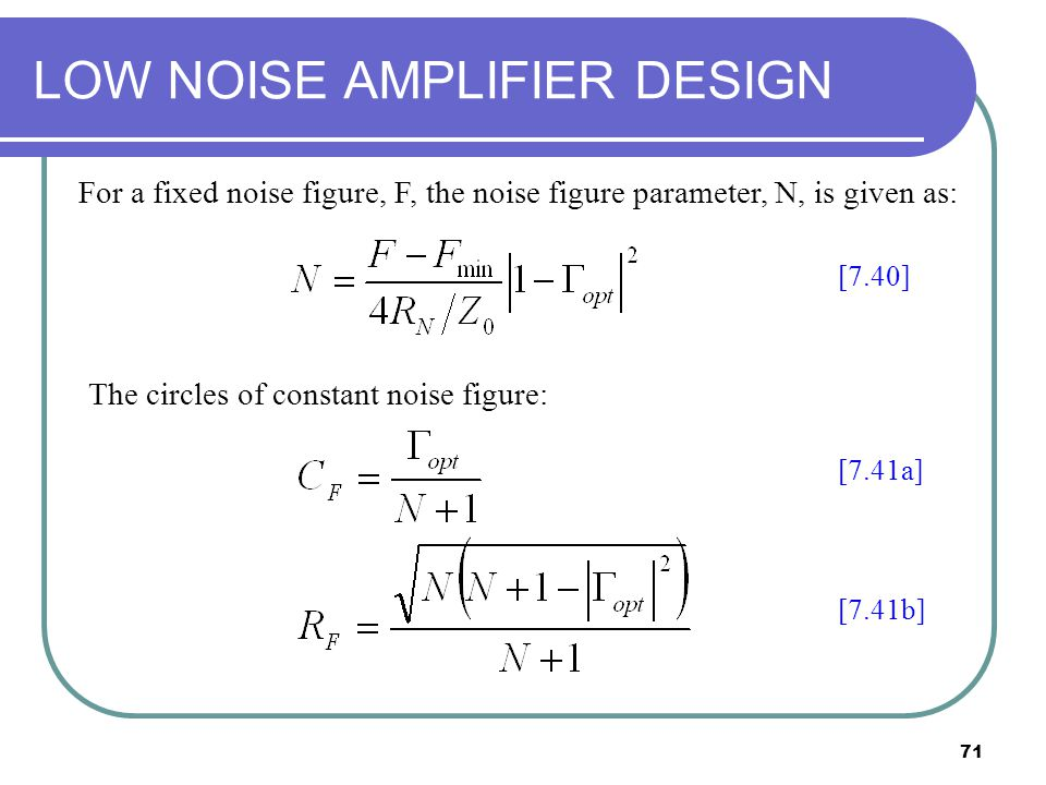 low noise amplifier design thesis Lna this thesis will present a technique for implementing a cmos low   design requirements for the lna are operation at 433 mhz, achieving noise  figure.