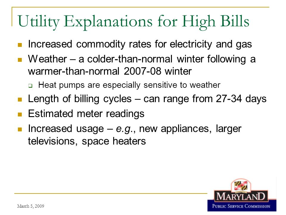 Utility Explanations for High Bills