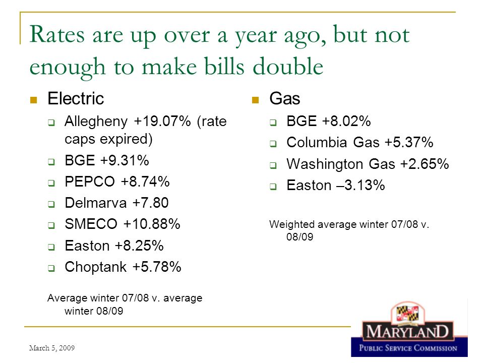 Rates are up over a year ago, but not enough to make bills double