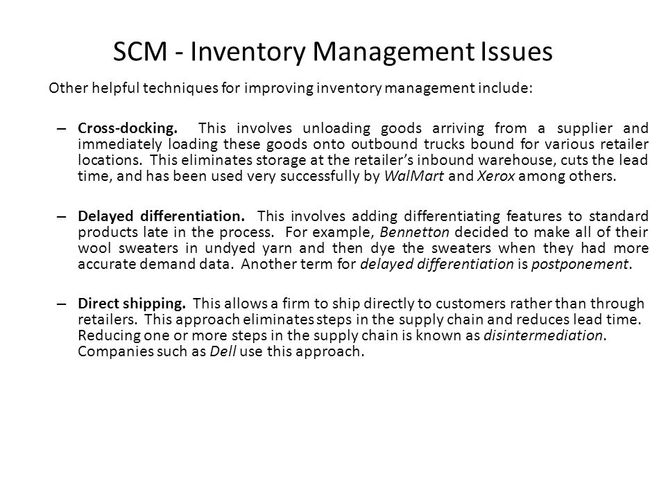 Common Inventory Management Problems