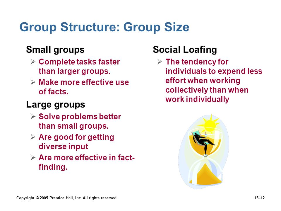 Group Structure: Group Size
