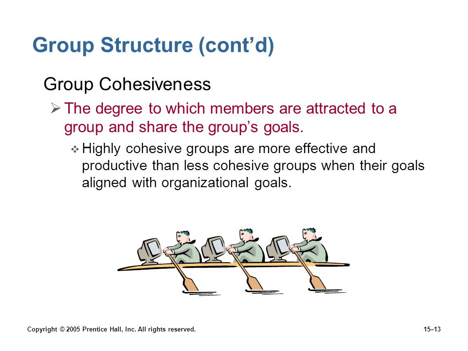 Group Structure (cont'd)