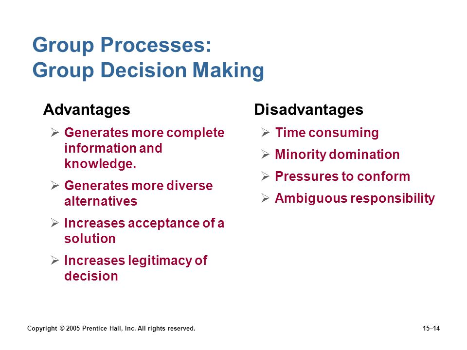 Group Processes: Group Decision Making