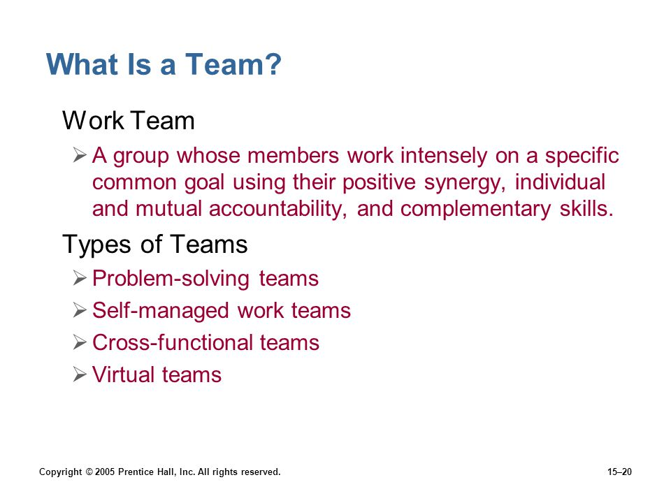 What Is a Team Work Team Types of Teams