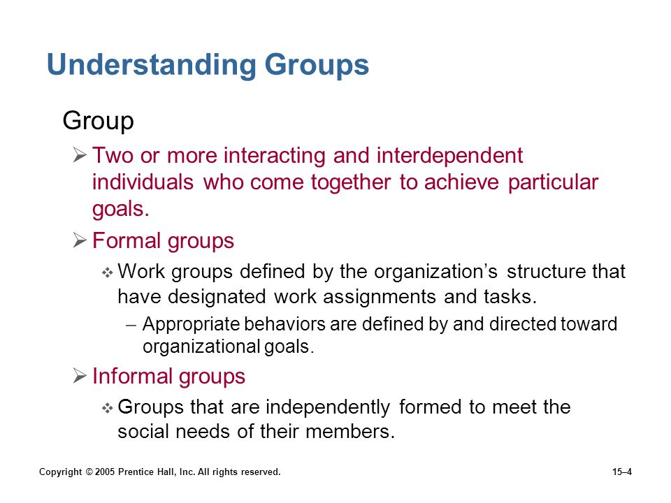 Understanding Groups Group