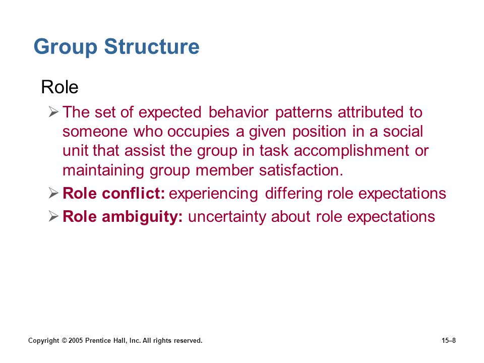 Group Structure Role.