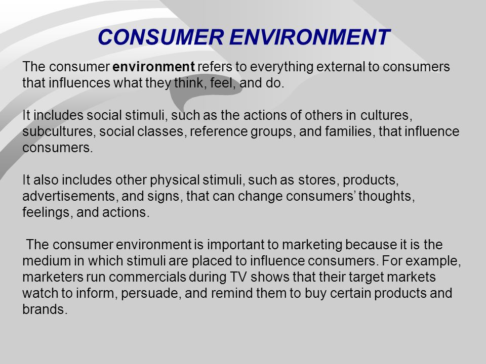 consumerism and the environment But now developing countries are catching up rapidly, to the detriment of the environment, health,  dc-based research organization focuses this year on consumerism run amuck.
