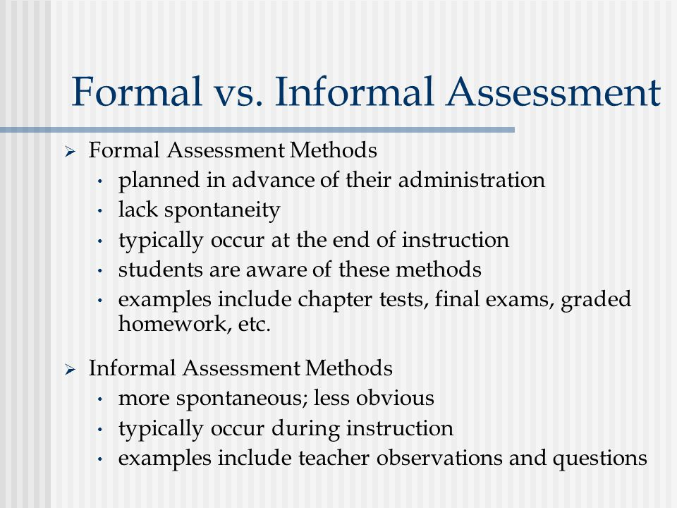 Formal Assessment Formal Mathematics Curriculum Assessment Policy