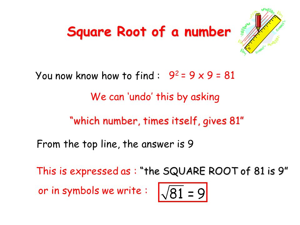 How can i find square root of a number