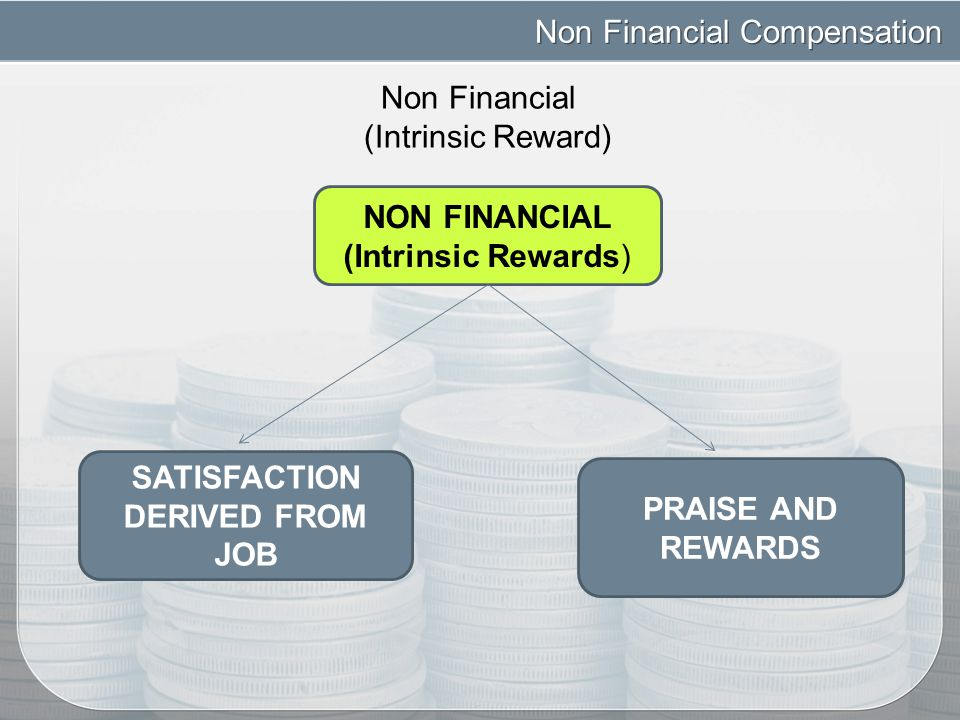 non financial rewards There are generally two types of non-financial reward used to motivate employees incentives and recognition incentives are future performance targets that, when met, allow employees to receive rewards these targets must be relevant and achievable and rewards include vouchers, time off work and activities recognition, on the other hand, is a.